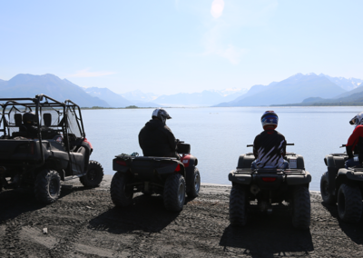 SamrtStraps lifestyle image Fishers ATV lake & mountains