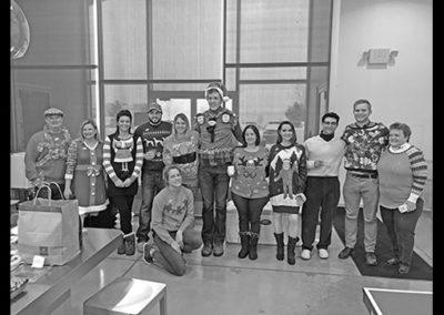 Team fun: ugly Christmas sweater contest