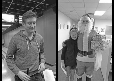 Team fun: Troy, Kelly & Santa